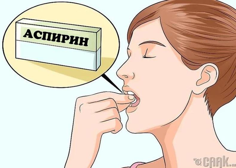 Аспирин ууж болохгүй