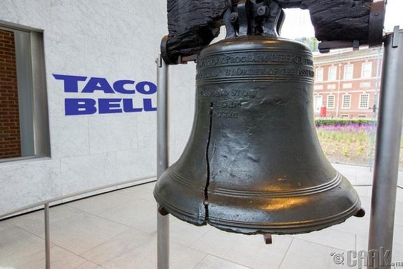 """""""Taco Bell эрх чөлөөний хонхыг худалдан авав"""""""