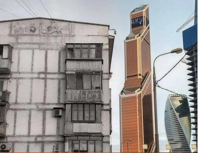 70-аад оны орон сууц болоод шинэ цамхаг - Москва