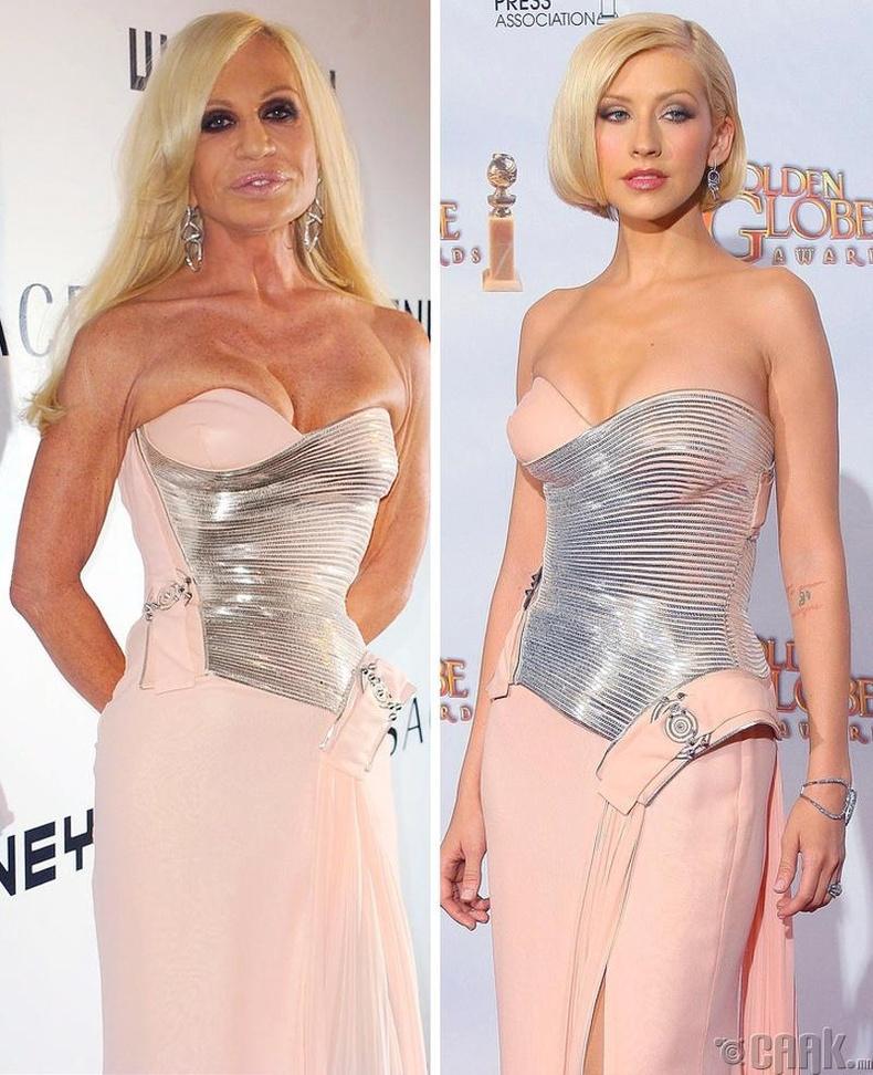 Донателла Версаче, Кристина Агилера (Donatella Versace,Christina Aguilera)