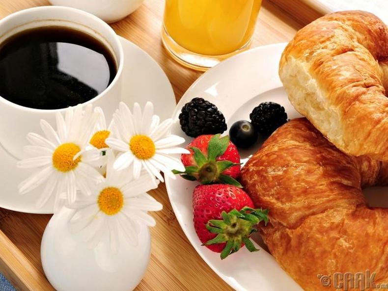 Та өглөөний цай уудаггүй