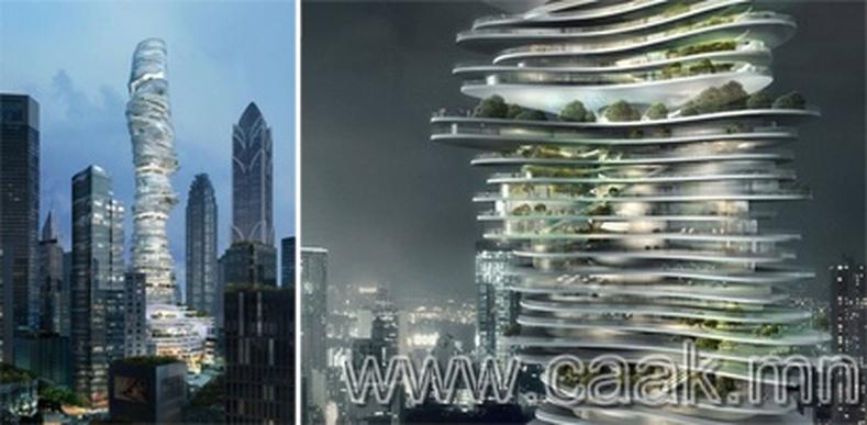 """""""Хотын ой"""" хэмээх тэнгэр баганатсан барилга"""