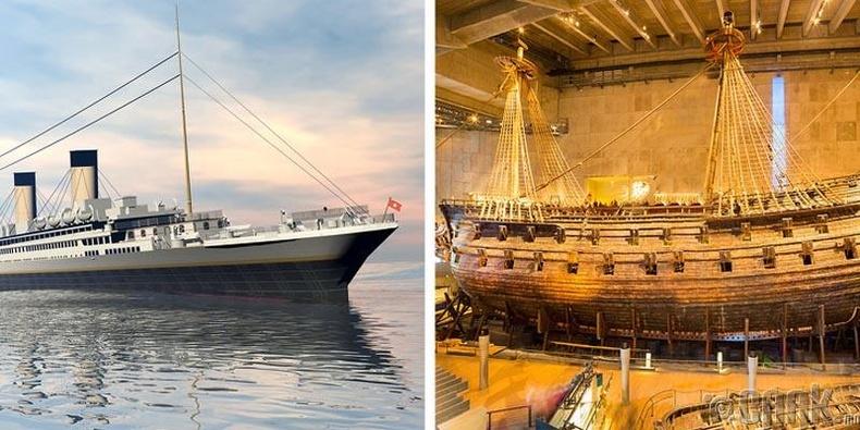 """""""Титаник"""" болон """"Васа"""" хөлөг онгоц"""