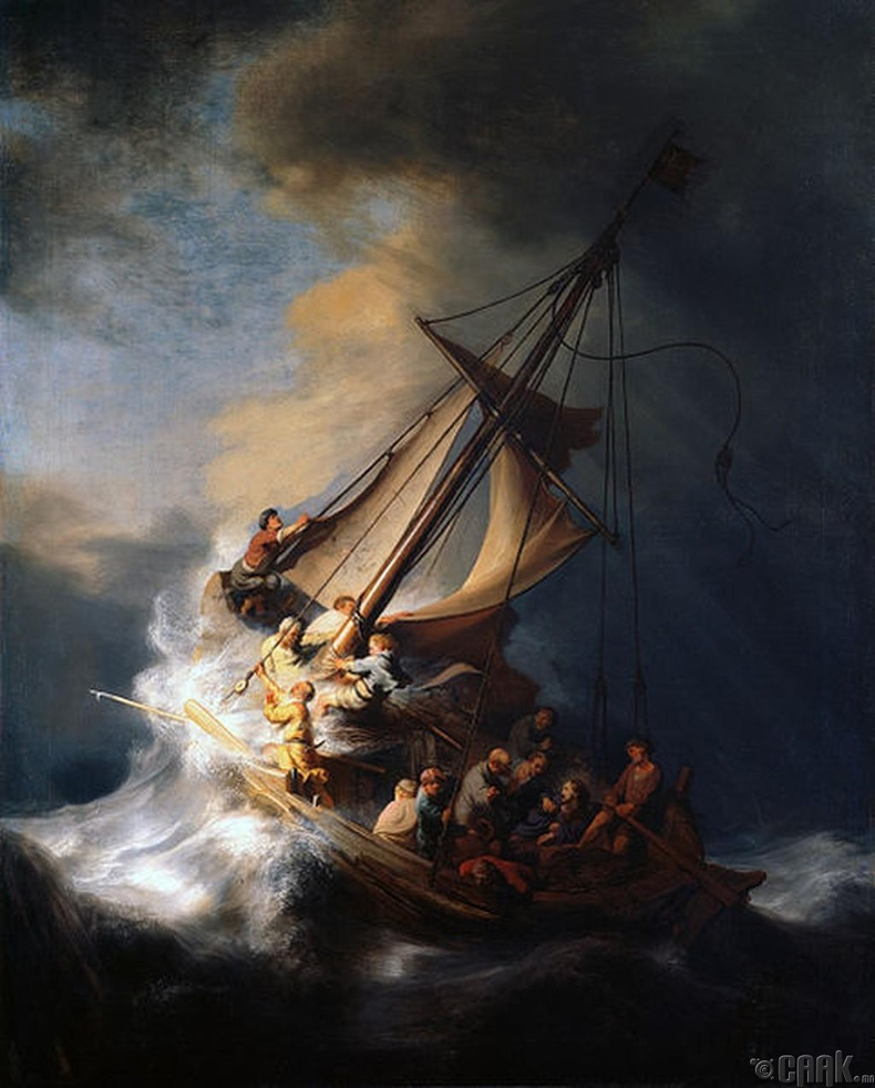 """Галилий далайн шуурга"" (The Storm on the Sea of Galilee | Rembrandt van Rijn)"
