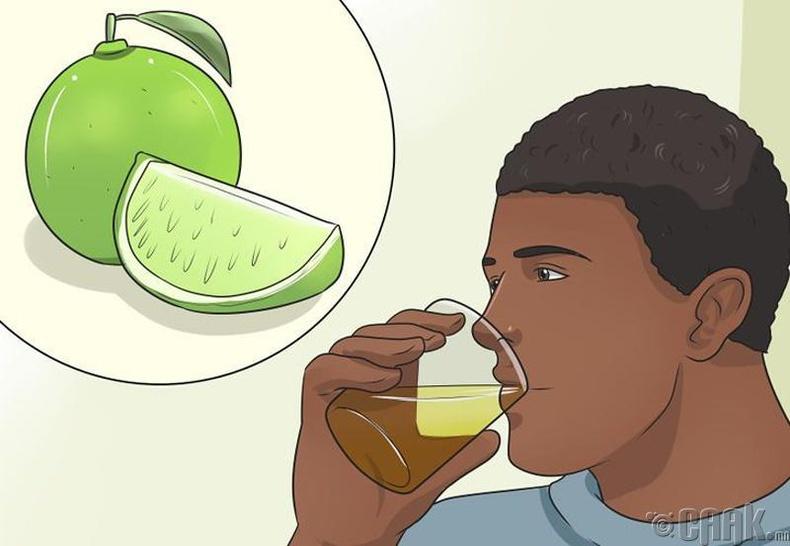 Нимбэгний шүүс уух