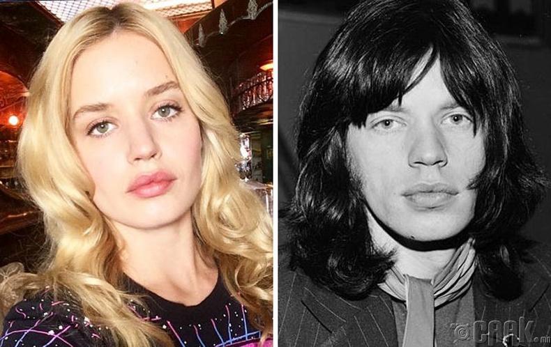 Жорджия Мэй Жаггер (Georgia May Jagger) болон дуучин Мик Жаггер (Mick Jagger)