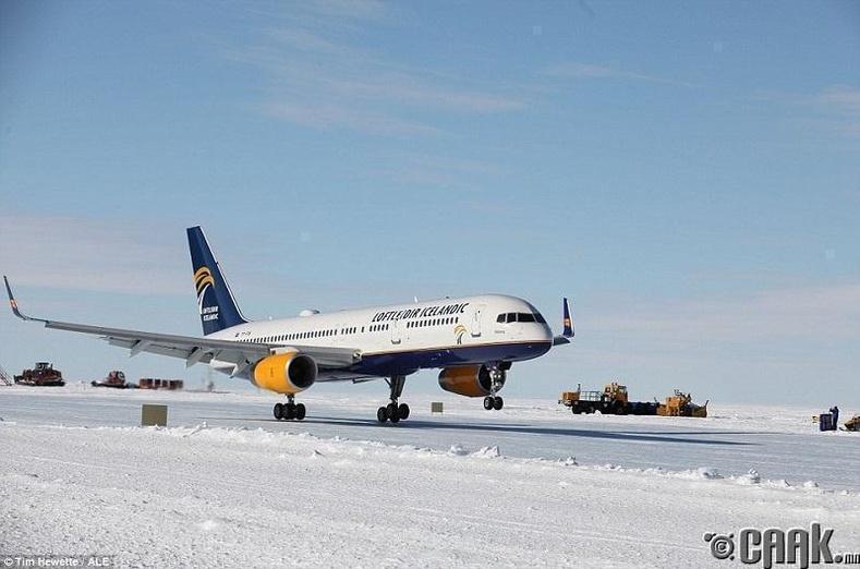 Мөсөн дээрх газардалт, Антарктид