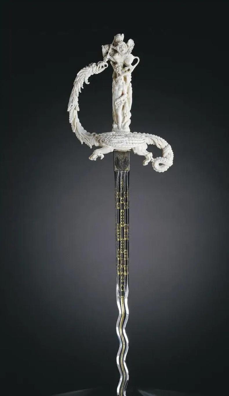 Зааны ясан бариултай ган сэлэм (Нидерланд, 17-р зуун)