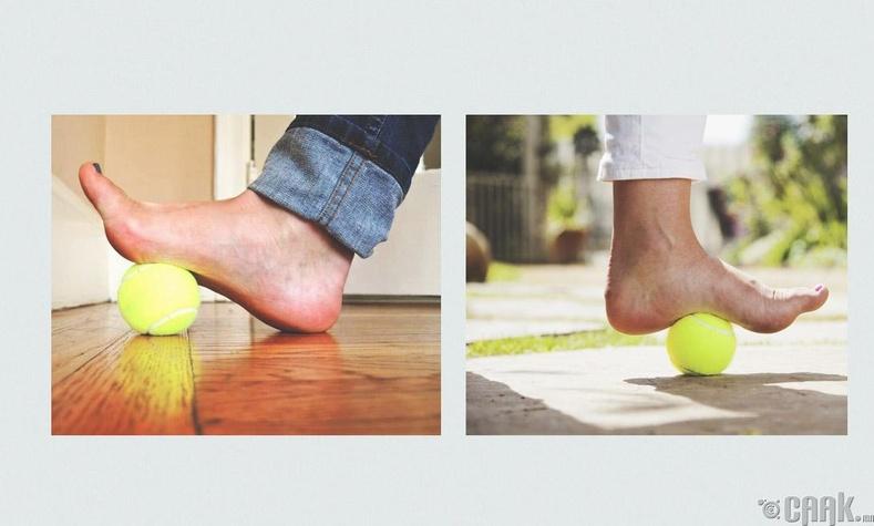Теннисний бөмбөг ашиглах дасгал