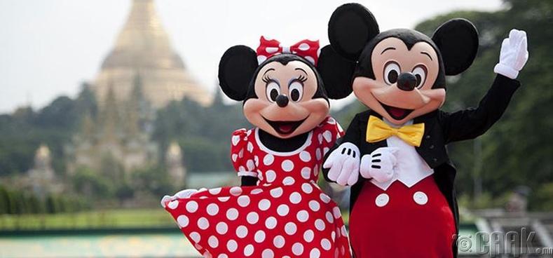 Микки, Минни хоёр бодит амьдрал дээр гэрлэжээ