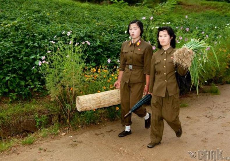 Хөдөө аж ахуй, газар тариалан эрхэлдэг цэрэг эмэгтэйчvvд -2008 он.