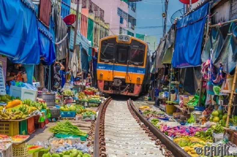 """""""Маэклонг"""" төмөр зам, Тайланд"""
