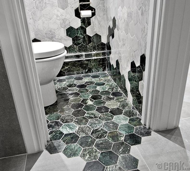 Угаалгын өрөөндөө өнгө үзэмж нэмэх энгийн арга
