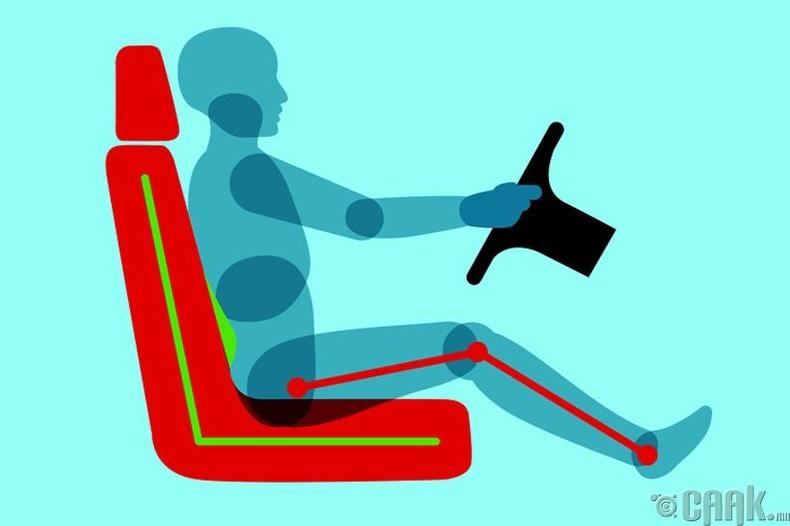 Жолоочийн суудал тохируулах