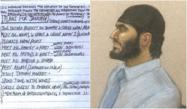 """Лондоны террористын """"диваажинд очоод"""" хийх зүйлсийн жагсаалтыг ил болгожээ"""