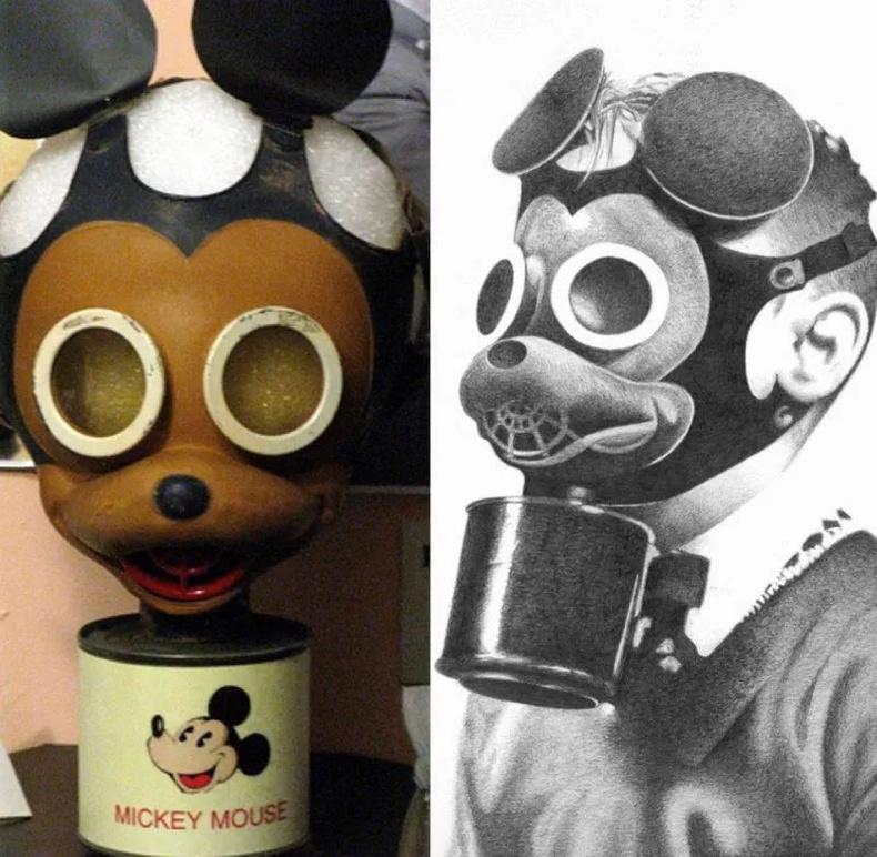 2-р дайны үед хүүхдүүдэд зориулан бүтээгдсэн Микки Маустай хорт утааны баг