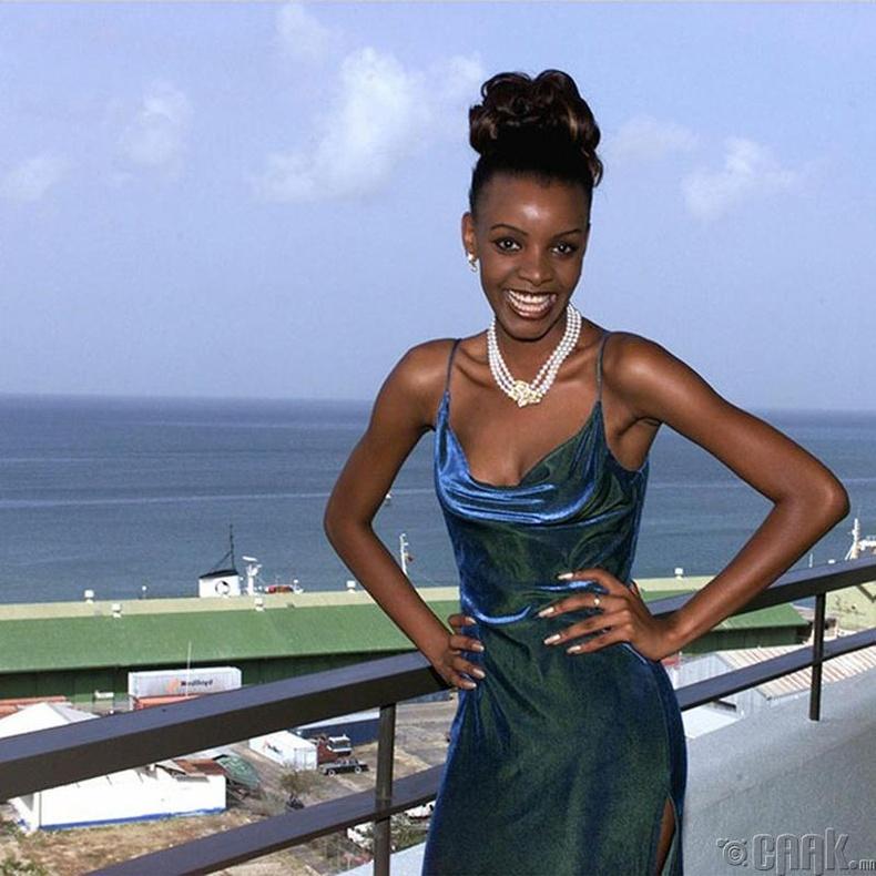 """Miss Universe-1999""-ын ялагч: Ботсванаын гоо бүсгүй Мпуле Квелагобе, 19 настай, 178 см өндөр."