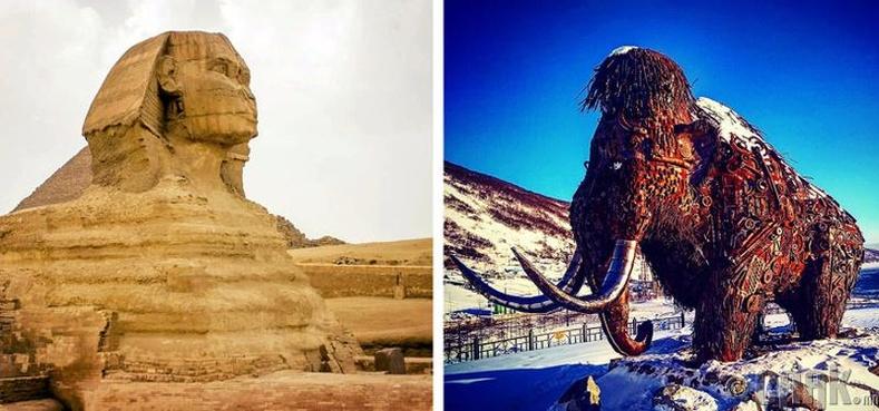 Египетийн пирамидууд баригдаж байх үед арслан заанууд мөхөөгүй байсан