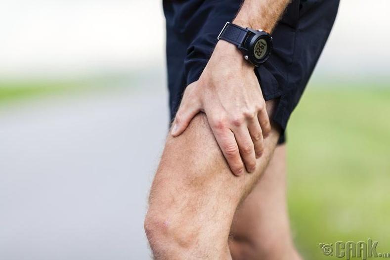 Шөрмөс татаж, хөл, гарын бугуй, нуруугаар өвдөх