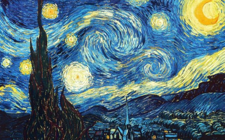 """The Starry Night"", Ван Гог"