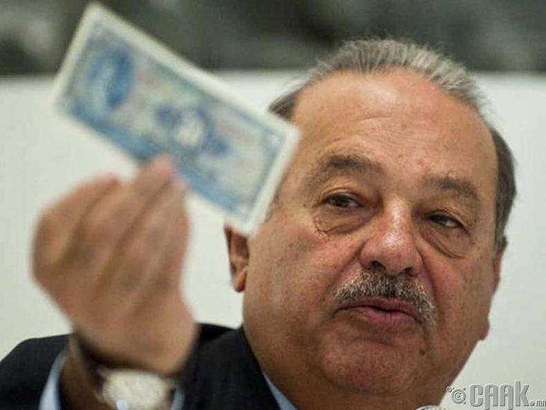 Карлос Слим Хелу (Carlos Slim Helu) - 54.58 тэрбум доллар