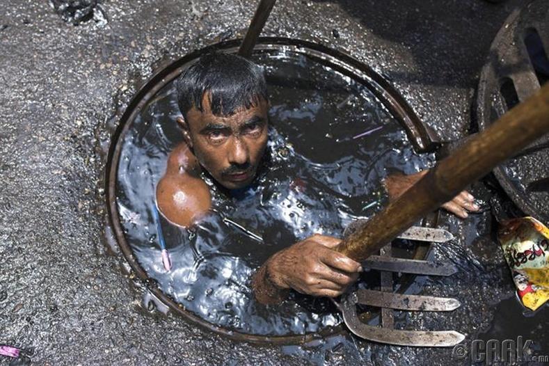 Муу усны нүх цэвэрлэгч, Энэтхэг