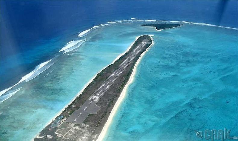 """""""Агатти"""" нисэх онгоцны буудал, Лакшадвип, Энэтхэг"""