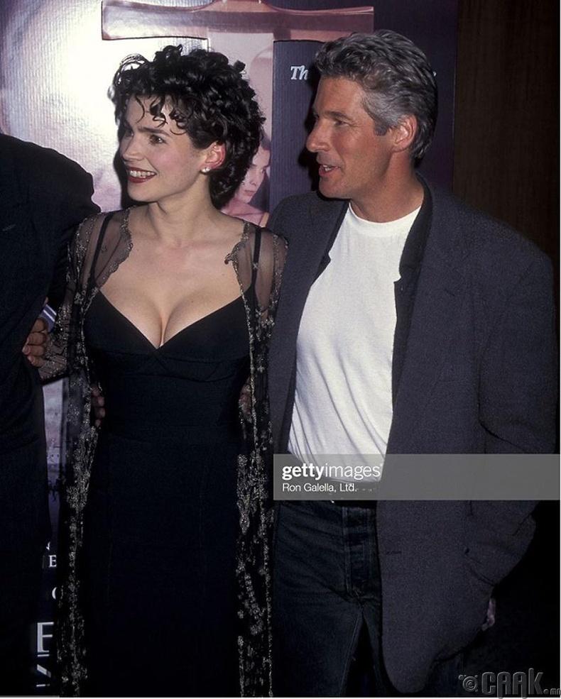 """Ричард Гир, Жулиа Ормонд нар """"The First Knight"""" киноны нээлтийн үеэр, 1995 он"""