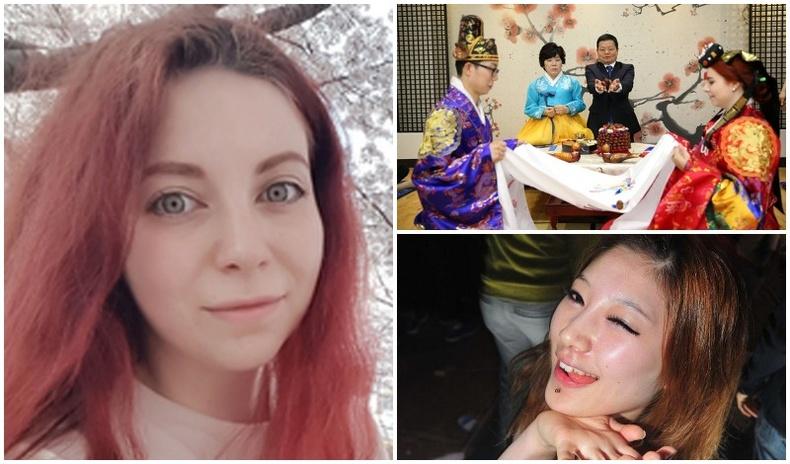 Солонгос залуутай суусан Орос бүсгүйн өчил...