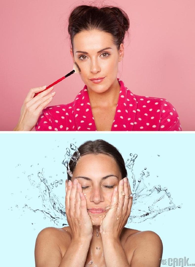 Нүүрний будгийн хэрэгслээ тогтмол цэвэрлэх