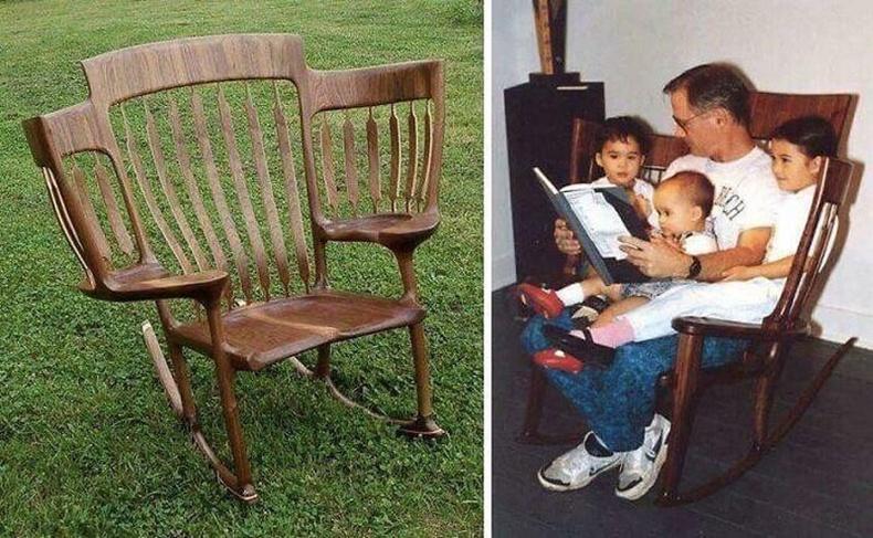 Хүүхдээ суулгаж болдог сандал