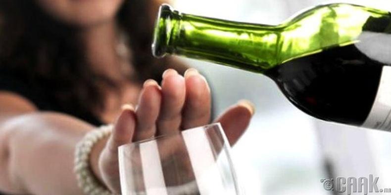 Согтууруулах ундаа хэрэглэхгүй байх