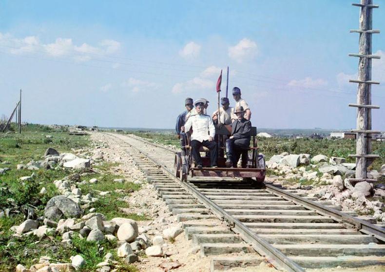 Петрозаводскоос Мурманск орох төмөр зам дээр - 1910 он