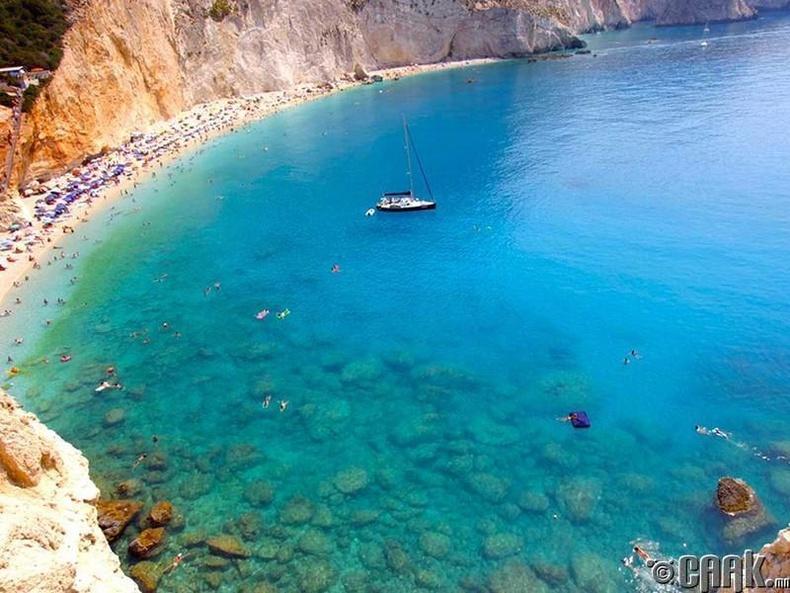 Порто Катсики (Porto Katsiki Beach) арал, Лефкада, Грек