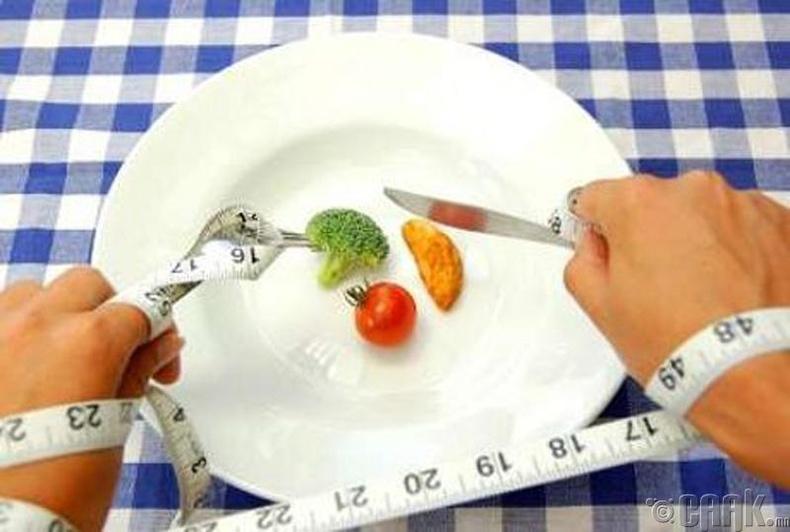 Хэтэрхий хатуу хоолны дэглэм барих хэрэггүй
