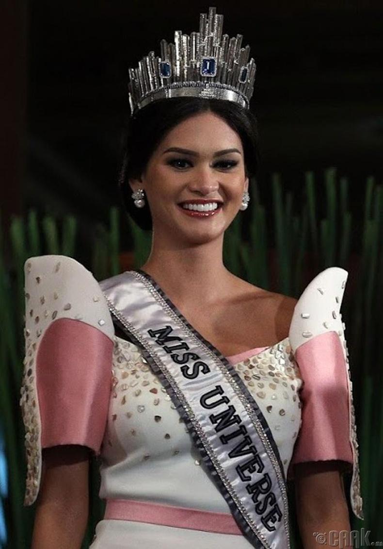 """""""Miss Universe-2015""""-ын ялагч: Филиппиний гоо бүсгүй Пиа Алонцо Вурцбах, 26 настай, 178 см өндөр."""