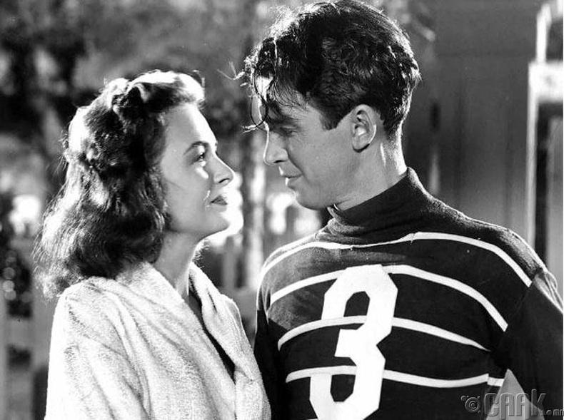"""""""It's a Wonderful Life"""" кинонд 38 настай Жимми Стюарт 19 настай залуугийн дүрд"""