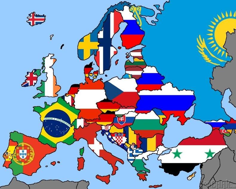 Европын орнууд ямар улстай хамгийн урт зурвасаар хиллэдэг вэ?