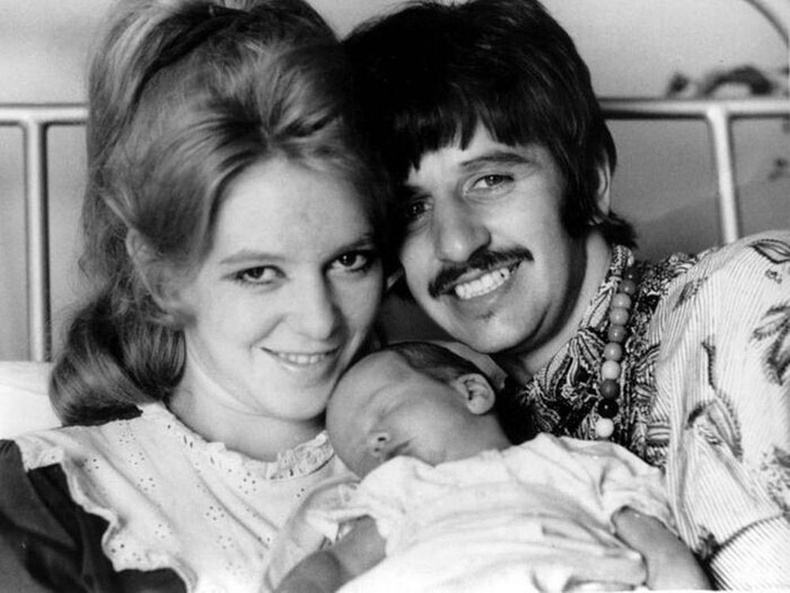 Ринго Старр эхнэр хүүхдийн хамт, 60-аад оны үе, Их Британи.