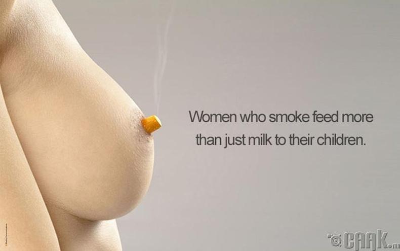 """""""Тамхи татдаг ээжүүд хүүхдээ зөвхөн сүүгээрээ тэжээдэггүй"""""""
