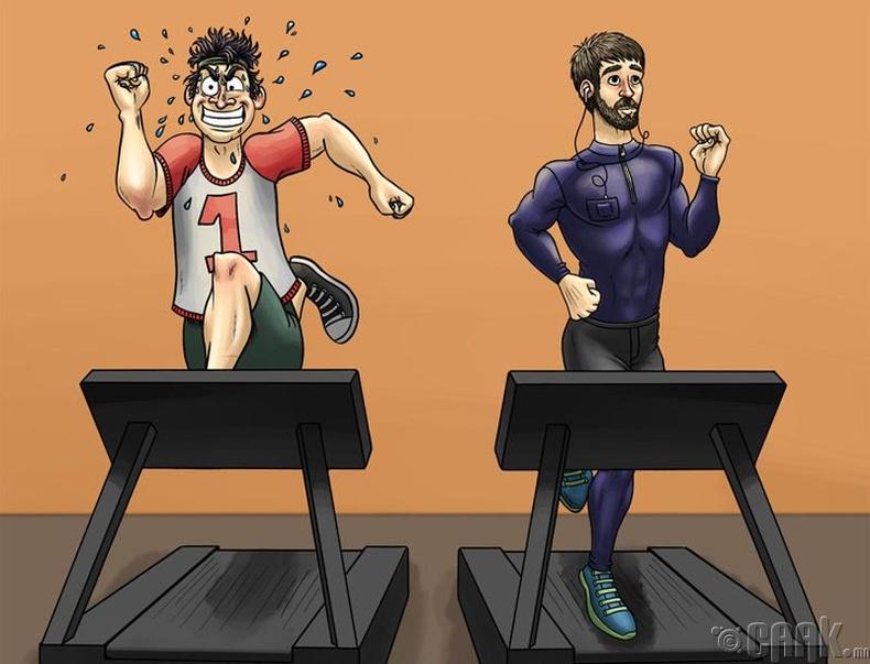 Бүх дасгалыг сайн гүйцэтгэх гэж оролддог залуу