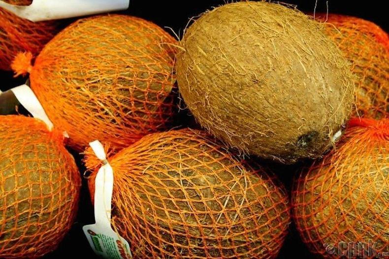 Кокос буюу наргил модны жимс нь самрын төрөлд ордог