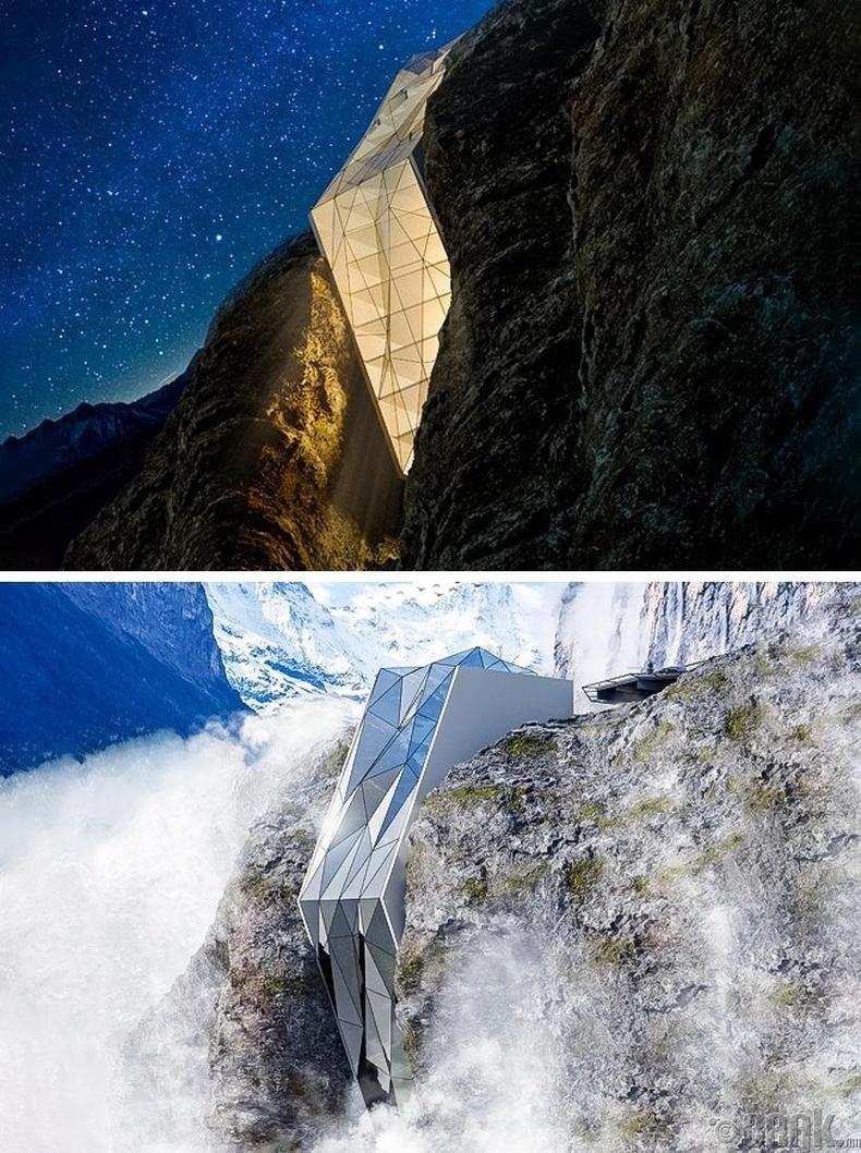 Альпийн нуруун дах уулын энгэрийн зочид буудал