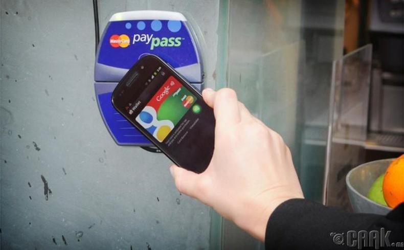 Гар утас төлбөр төлөх карт болгон ашиглах