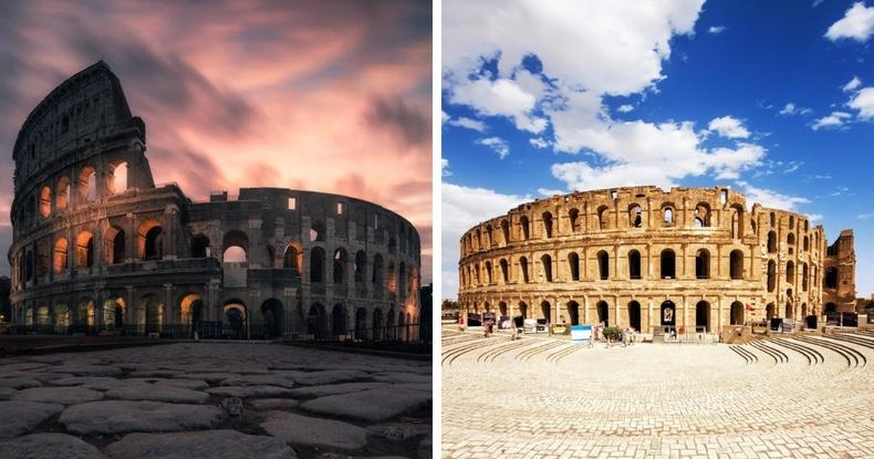 Колизей (Ром, Итали), Эль Жем дэх задгай театр (Тунис)