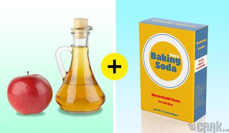 Алимны цуу + хүнсний сода