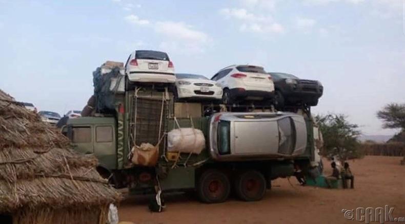 Mашин тээвэрлэх Африк технологи