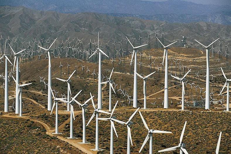 Палм Спрингсийн ойролцоох салхин сэнснүүд - Калифорни, АНУ