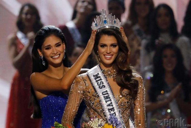 """""""Miss Universe-2016""""-ын ялагч: Францын гоо бүсгүй Ирис Миттенере, 23 настай, 172 см өндөр."""