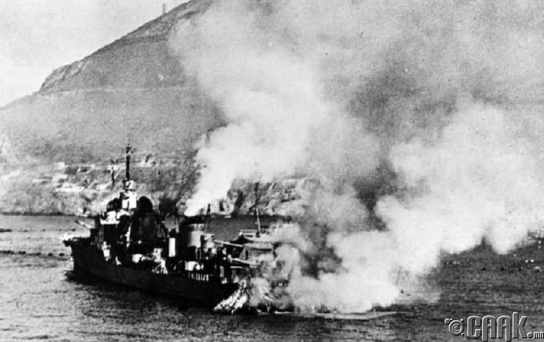 Британичууд Францын усан цэрэг рүү довтлов